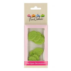Décors FunCakes en pâte d'amande feuilles vertes Cake Design FC74001