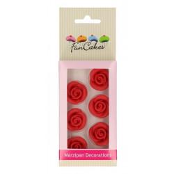 Décors FunCakes en pâte d'amande Roses rouges Cake Design FC74007