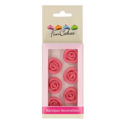 Décors FunCakes en pâte d'amande Roses rose Cake Design FC74008
