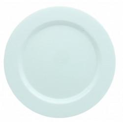 Assiettes Maje plastique blanc 6 pièces 19 cm Déco festive 2448BL