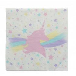 Serviettes papier Licorne 3 plis x 20 Déco festive 2452ASS