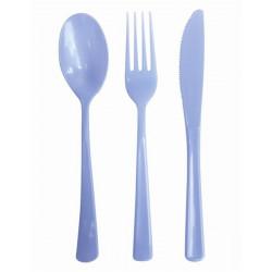Ménagère 30 couverts en plastique bleu Déco festive 727BE