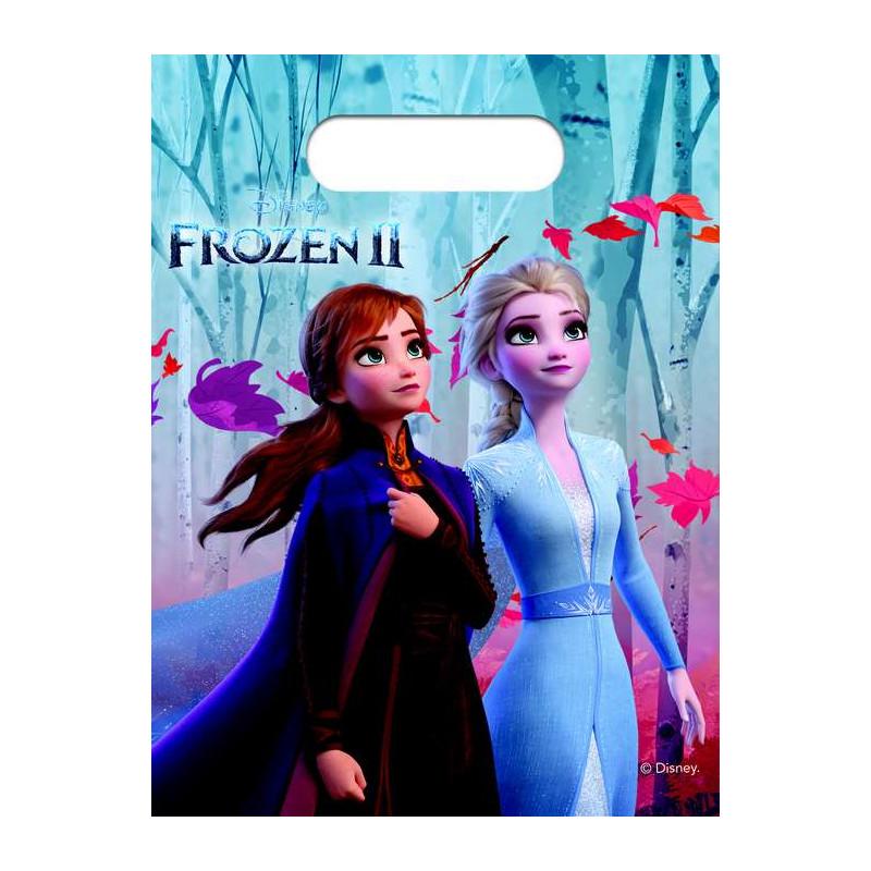 Sacs cadeaux La Reine des Neiges 2™ x 6 Déco festive LFRZ91130