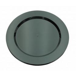 Assiettes Maje plastique noir 6 pièces 26 cm Déco festive 2447NO