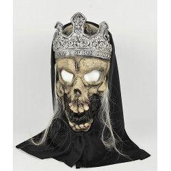 Masque roi tête de mort Accessoires de fête 22588