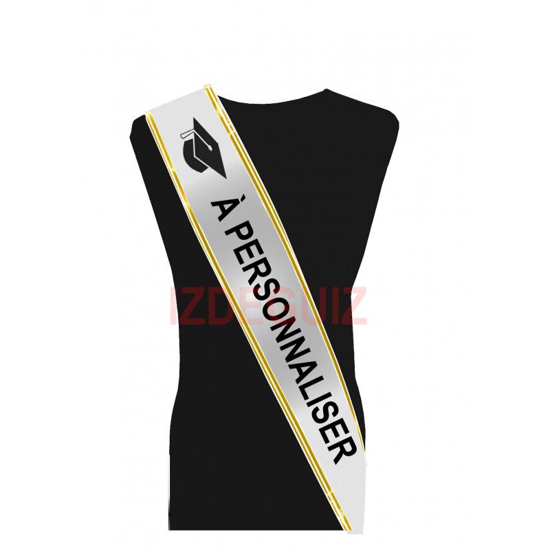 Écharpe étudiant Miss ou Mister personnalisée avec texte de votre choix Accessoires de fête 99521-PERSONA