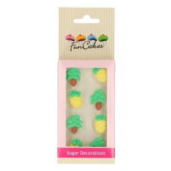 Décors FunCakes en sucre ananas et palmiers Cake Design FC71008