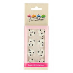 Décors FunCakes en sucre yeux ovales - Cake Design FC71016