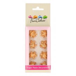 Décors FunCakes en pâte à sucre étoiles dorées - Cake Design FC71023