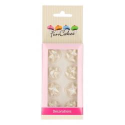 Décors FunCakes en pâte à sucre étoiles argentées - Cake Design FC72006