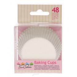 Caissettes à cupcakes blanches x 48 Cake Design FC4001