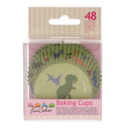 Caissettes à cupcakes dino x 48 Cake Design FC4015