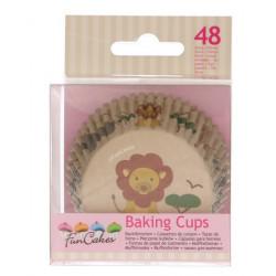 Caissettes à cupcakes animaux safari x 48 Cake Design FC4017