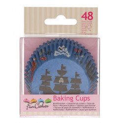 Caissettes à cupcakes pirate x 48 Cake Design FC4019
