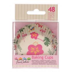 Caissettes à cupcakes tropical x 48 Cake Design FC4024