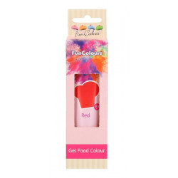 Colorant gel alimentaire FunCakes rouge 30 g Cake Design FC50010