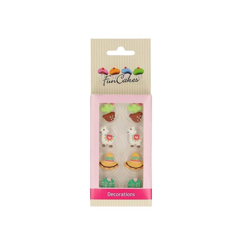 Décoration en sucre FunCakes alpaca x 8 Cake Design FC71035