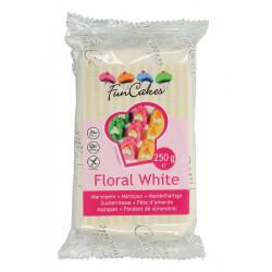 Pâte d'amande Funcakes 250 g blanc floral Cake Design FC99125