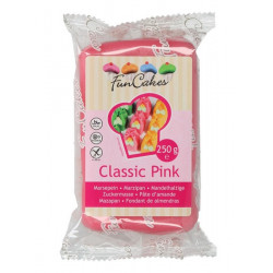 Pâte d'amande Funcakes rose 250 g Cake Design FC99175