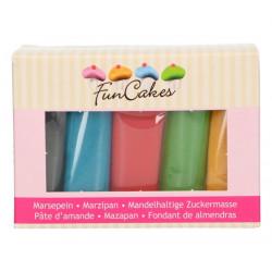 Pâte d'amande Funcakes couleurs assorties 500 g Cake Design FC99905
