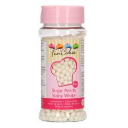 Confettis perles en sucre FunCakes blanc 80 g - Cake Design G42330
