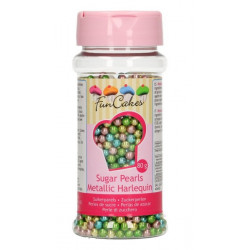 Perles en sucre FunCakes arlequin métallisé 80 g Cake Design G42720