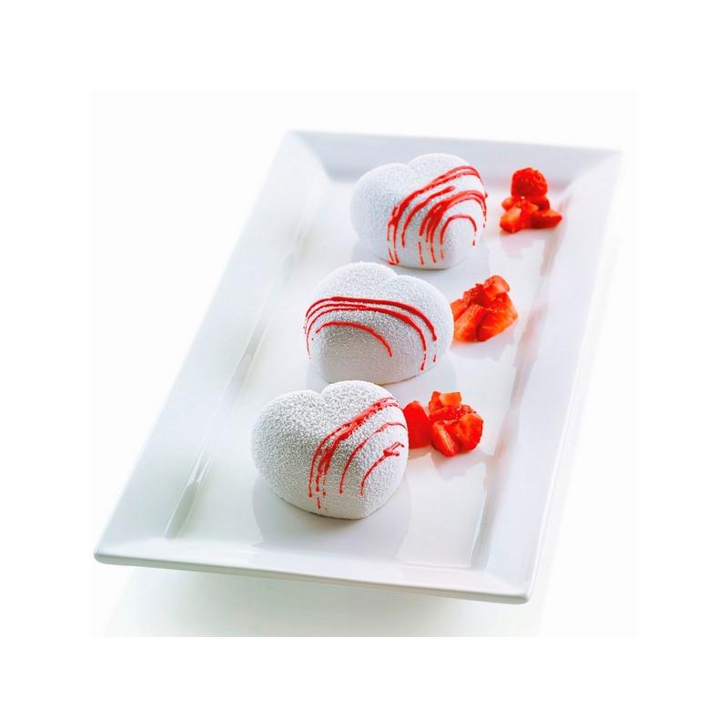 Moule silicone 8 coeurs 3D Cuorinco Silikomart Cake Design S3D26186