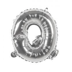 Ballon aluminium argent 36 cm lettre Q Déco festive 22116