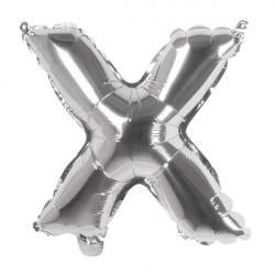 Ballon aluminium argent 36 cm lettre X Déco festive 22123