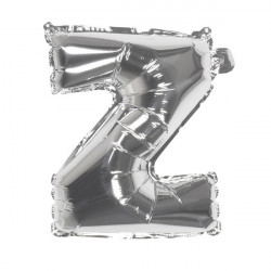 Ballon aluminium argent 36 cm lettre Z Déco festive 22125