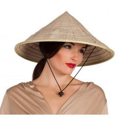 Chapeau chinois naturel adulte Accessoires de fête 95453