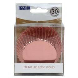Caissettes à cupcakes rose gold métallique x 30 Cake Design BC818