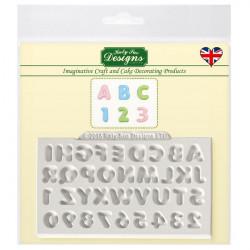Moule silicone chiffres et alphabet Katy Sue Cake Design CE0030
