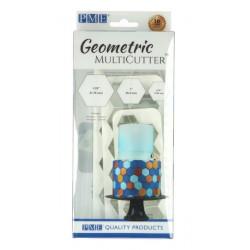 Emporte-pièce plastique hexagonal x 3 Cake Design GMC104