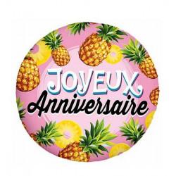 Ballon alu 45 cm Joyeux Anniversaire ananas Déco festive 36500-14