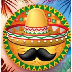 Ballon alu 45 cm mexicain Déco festive 36500-20