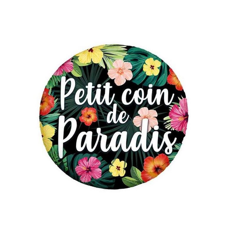 Ballon alu 45 cm petit coin de paradis Déco festive 36500-24