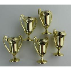 Lot 5 coupes dorées Déco festive 42817