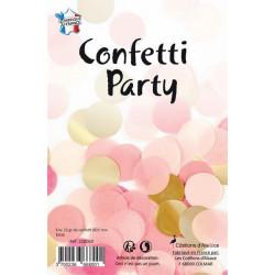 Sachet 15 grammes confettis 2.5 cm coloris rose et or Déco festive 22606D