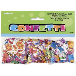 Confettis Happy Birthday 34 g Déco festive U90361