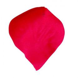 Sachet 120 pétales tissu rouge Déco festive 11811RG
