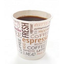 Gobelet à café x 50 carton blanc imprimé 10 cl Déco festive 3061CA
