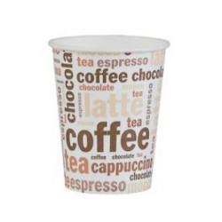 Gobelet à café x 50 carton blanc imprimé 25 cl Déco festive 3062CA