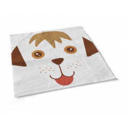 Serviettes papier chien 20 pièces 33 x 33 cm Déco festive 3162A
