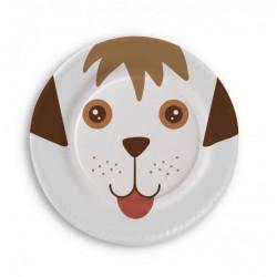 Assiettes en carton chien 6 pièces 23 cm Déco festive 3160A