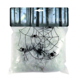 Toile d'araignée 500 grs ignifugée halloween Déco festive 3330159