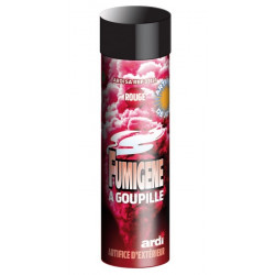 Tube fumigène 1 minute rouge Divers 33031