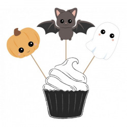 Set 3 cake toppers Sweety Halloween Cake Design 812591