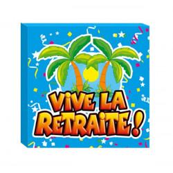Serviettes jetables Vive la Retraite x 20 Déco festive CD0529