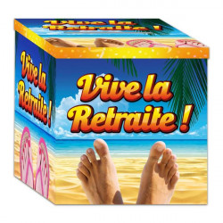 Urne carton Vive la Retraite Déco festive CD1167